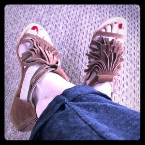 Brown leather sandals- sz 7